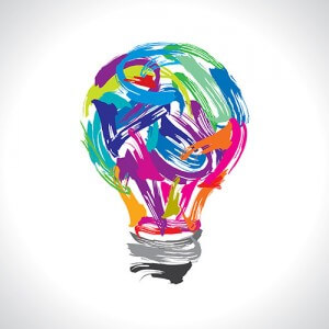 light bulb colorful
