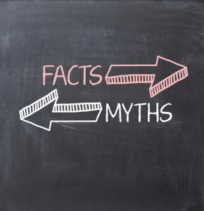 myths vs. facts chalkboard