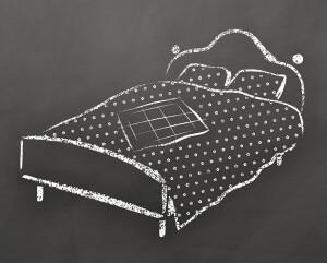 Bed.chalkboard