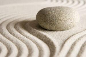 zen stone sand