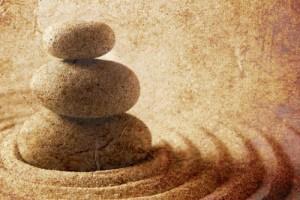 zen stones sand